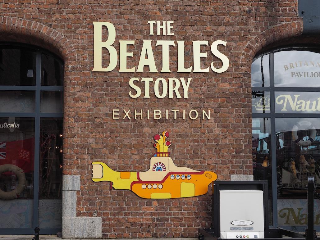Beatles bildet tatt i liverpool på firmatur