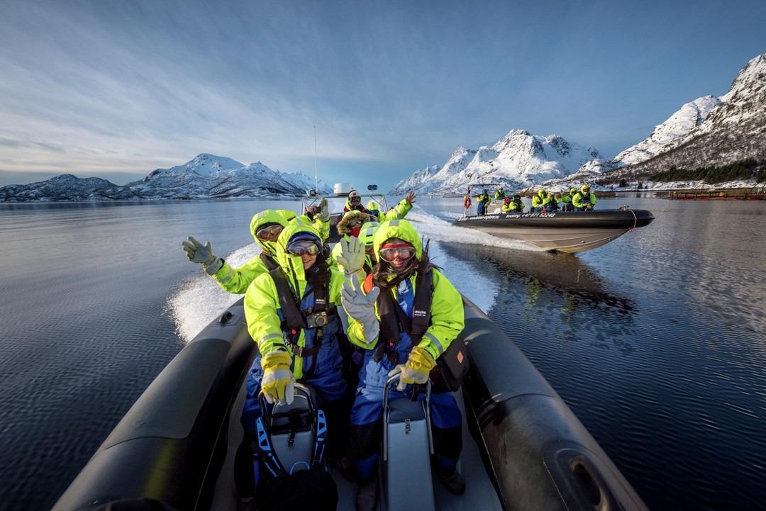 Gruppereise aktivitet RIB Båt i Nord Norge