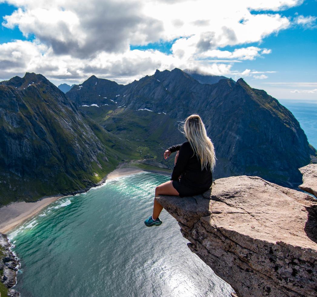 utsikt over magiske fjell lofoten