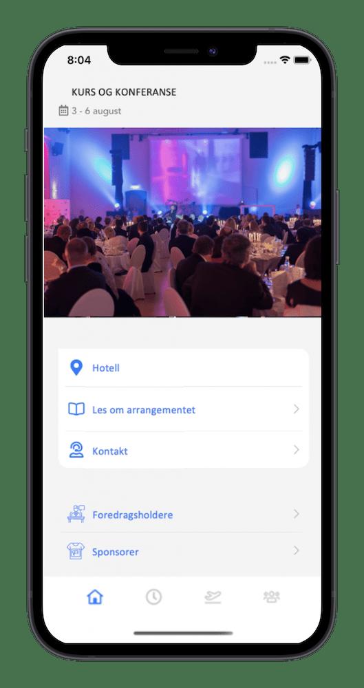 app for event og arrangementer