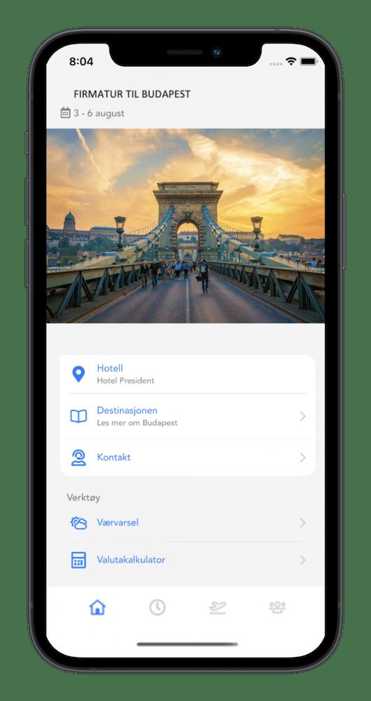 app for firmatur til utlandet