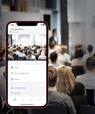 app for kurs og konferanse